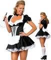 S-4XL Женщины Сексуальное Женское Белье Костюм Французской Горничной Слуга Косплей Костюм Хэллоуин бесплатная доставка