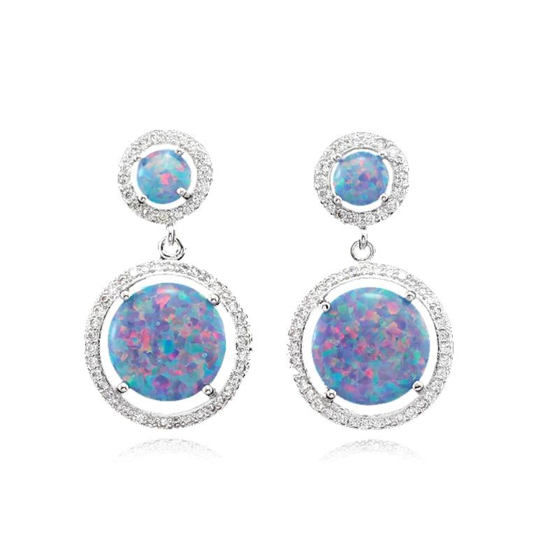 ccdae69ea7 Hot Seller Huge Fire Opal CZ Women Opal Earring Stud Earrings OE239