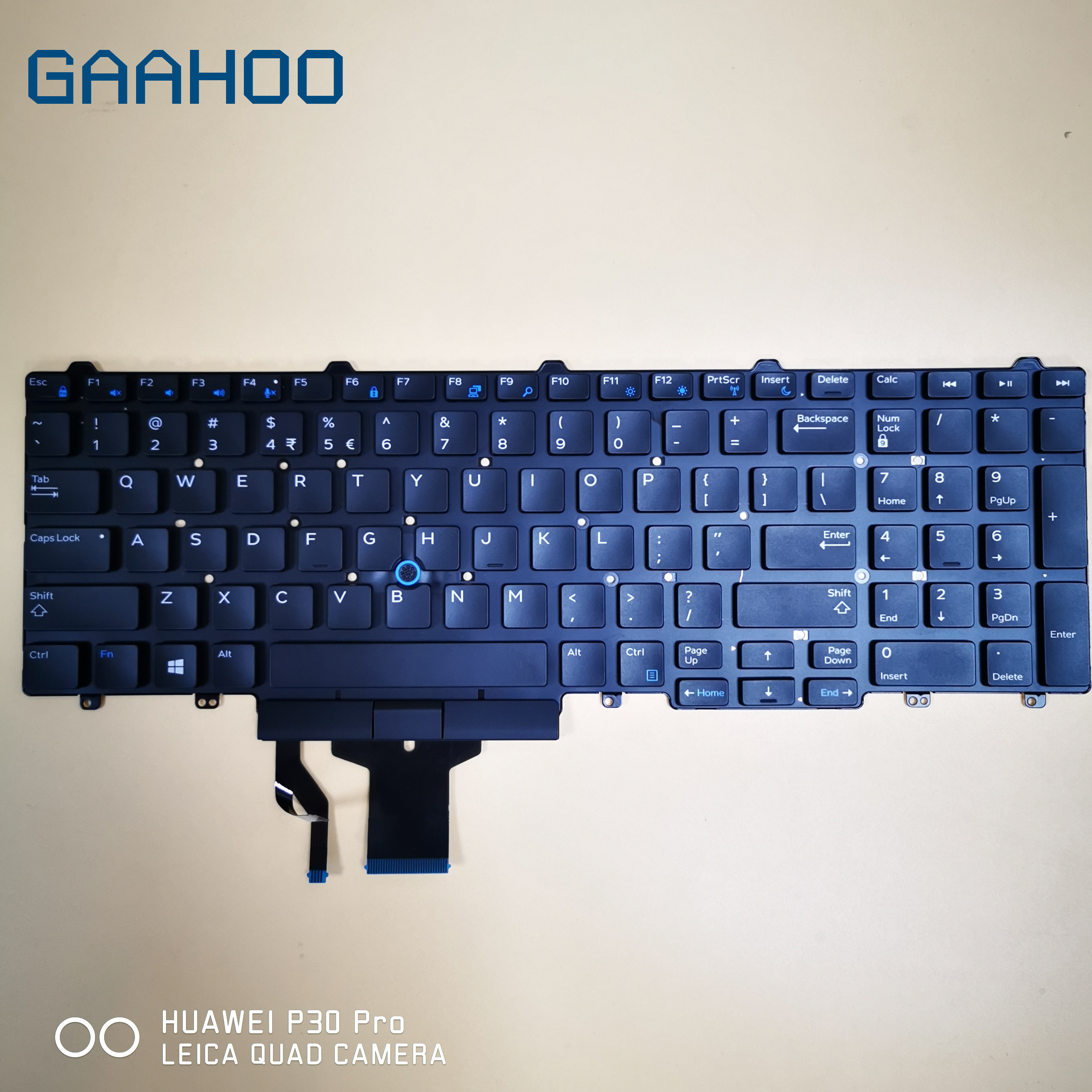 US <font><b>keyboard</b></font> for <font><b>Dell</b></font> Latitude 5550 5570 5580 5590 PRECISION 3510 <font><b>3520</b></font> 3530 3540 7510 7520 7530 7710 7720 LAPTOP w/ TRUCKPOINT image