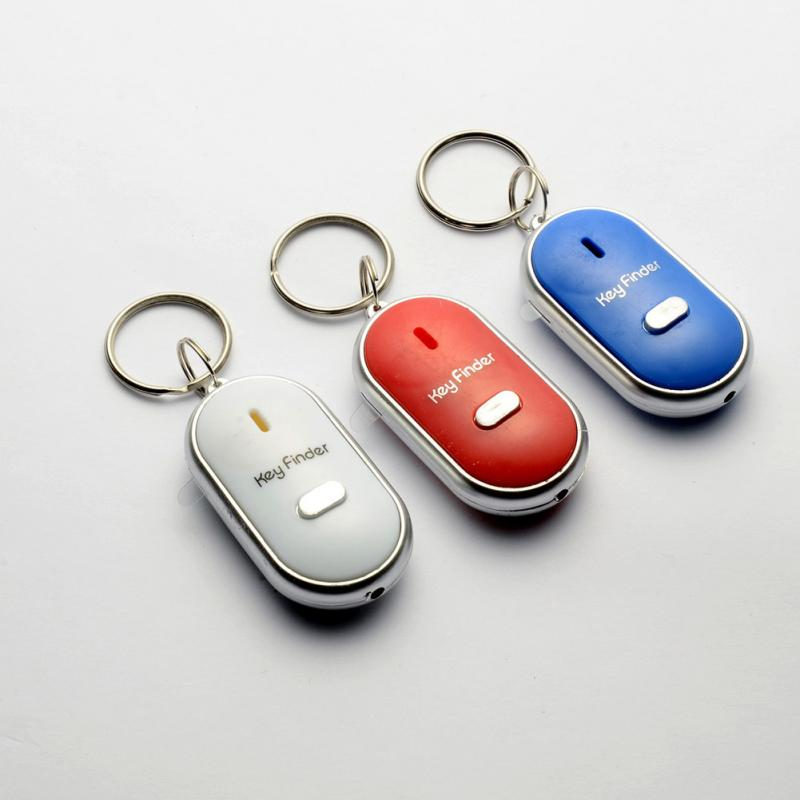 Smart Finder key Whistle Sensors White 1 PCS Keychain Sound LED With Whistle Cla
