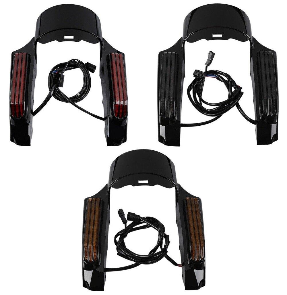 Jeu de Fascia d'aile arrière de lumière LED de moto pour la glisse de route d'electra de tourisme de Harley 2014-Up