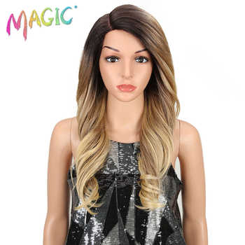 MAGIC Hair Synthetic Lace Front Wig Long Wavy Hair 24 Inch Blonde Wigs For Black Women Ombre Hair Synthetic Lace Front Wig - DISCOUNT ITEM  41% OFF All Category