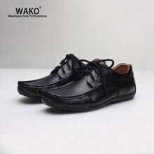 WAKO/Для мужчин Для женщин обувь повара черные кожаные туфли с нескользящей подошвой Кухня работы внутри помещений, не скользящие, против скольжения, безопасность повар ресторана обувь Водонепроницаемый 9538