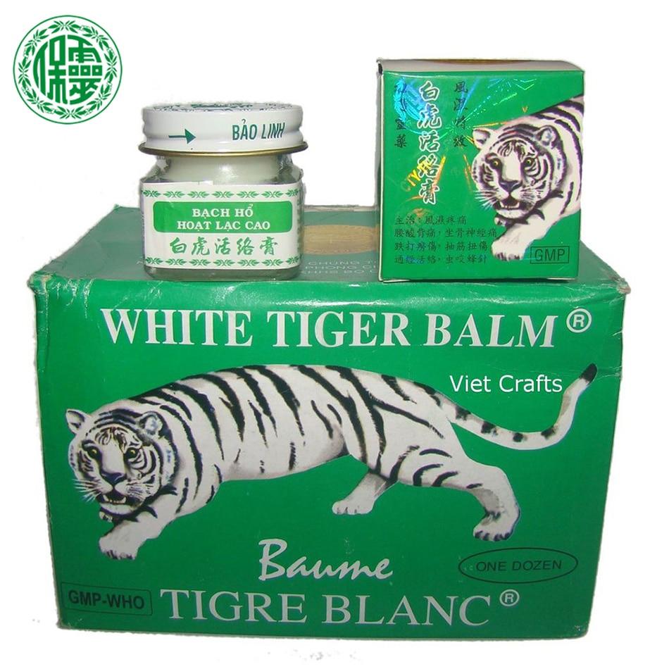 3PCS 20g Eredeti BaoLin márka Vietnam Fehér tigris balzsam Baume masszázs Természet Herb esszenciális testbalzsam fejfájás fogfájásra