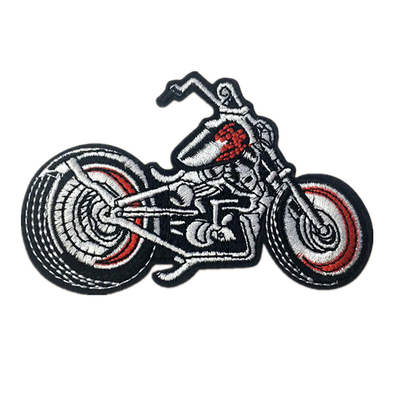 Embroidered Sew Iron On Patches Motorcycle Punk Badge For Bag Jeans Hat Appliques DIY Sticker Decoration Apparel Accessories