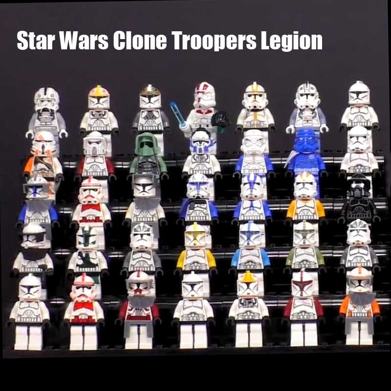 Star Wars Clone Trooper légion SW910 SW502 SW492 Commander Compatible legoe minifig blocs enfants noël nouvel an jouets
