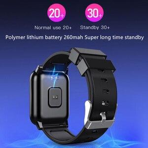 Image 4 - L8STAR B1 inteligentny zegarek ciśnienie krwi tlen Sport 30 dni długi na baterie życie opaska monitorująca aktywność fizyczną opaska do monitorowania stanu zdrowia pulsometr