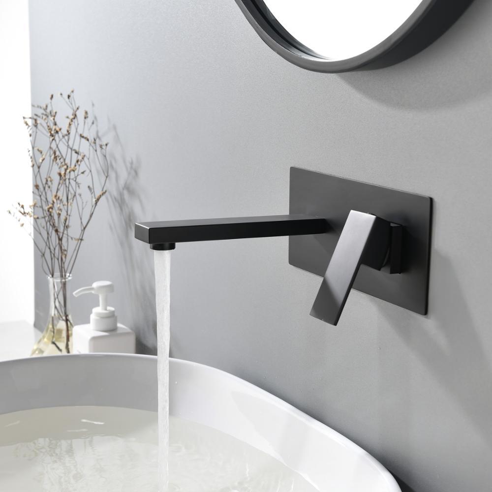 SKY RAIN Kitchen Bathroom Wonderful Wall Mounted Shower Faucet Tap Matte Black Faucet