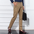 2016 Новая Мода Брюки Мужчины Прямой Ногой На Открытом Воздухе Плюс брюки мужские Длинные брюки досуг мужчины бизнес Случайный Masculina Одежда
