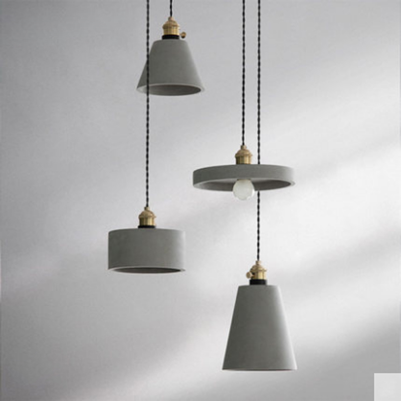 American retro personality cafe creative pendant gray cement decor home fixture single head small lighting pendant lampAmerican retro personality cafe creative pendant gray cement decor home fixture single head small lighting pendant lamp