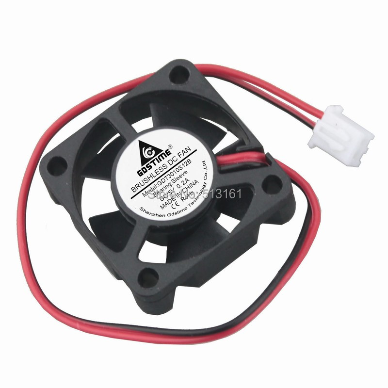 5pcs Gdstime Small Brushless DC <font><b>Cooling</b></font> <font><b>Fan</b></font> <font><b>5V</b></font> <font><b>30mm</b></font> 30x30x10mm 2Pin 5 Blades image