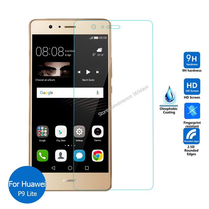 For Huawei P9 Tempered glass Screen Protector 2.5 9h Safety Protective Film on P 9 Lite Plus Premium Standard Dual Sim Eva L19