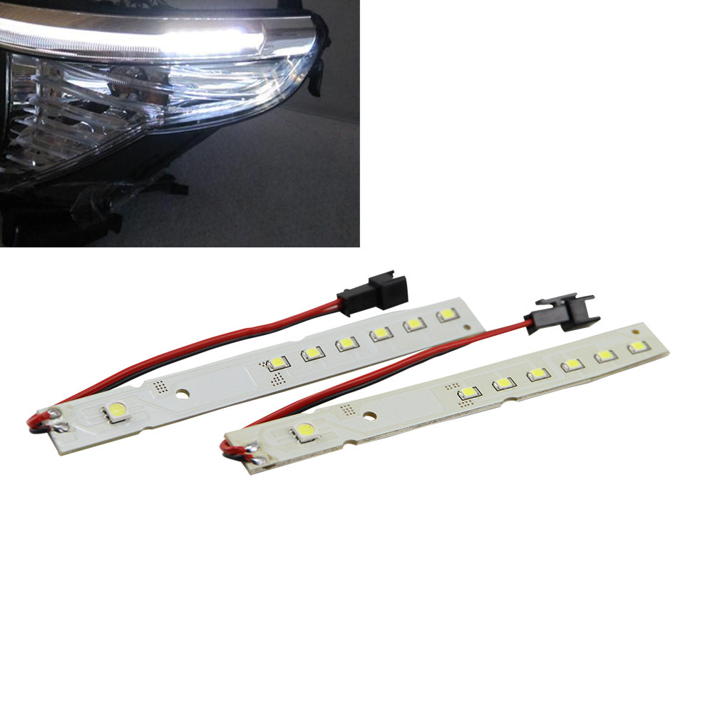 6000K 2835 SMD LED High power Eyelid Eyebrow drl daytime running Modules led light for BMW E60 LCI 5 Series 528i 535i 550i M5 high quality light high power led daytime running lights for bmw e90 lci 3 series sedan 15w 2009 2012 freeshipping