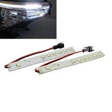 6000 K 2835 SMD de Alta potencia LED Módulos de Párpados Cejas drl daytime running luz led para BMW E60 LCI Serie 5 528i 535i 550i M5