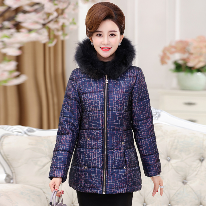 2017 In the elderly women 's winter down jacket cotton large size short coat thicker winter jacket in the elderly cotton down jacket women s winter coat thickening plus cashmere