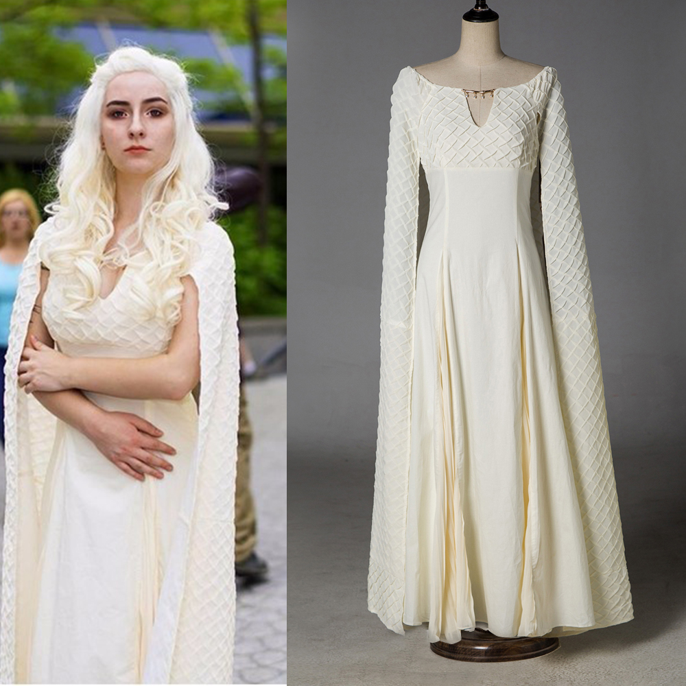 Game of Thrones 5 Kostuum Cosplay Daenerys Targaryen Qarth Jurk Feest - Carnavalskostuums
