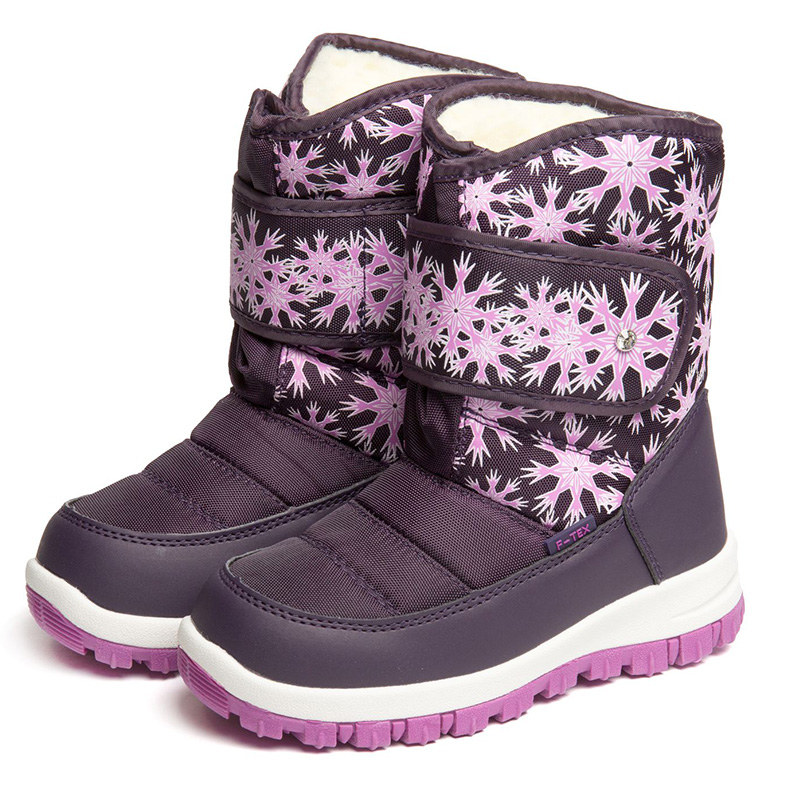 FLAMINGO Winter Orthotic Arch High Quality Kids Shoes Waterproof Wool Warm Anti-slip Size 27-32 Snow Boots for Girl 82M-QK-0928 women winter over the knee high boots ladies platform fringe snow boots waterproof down thick plush female shoes botas