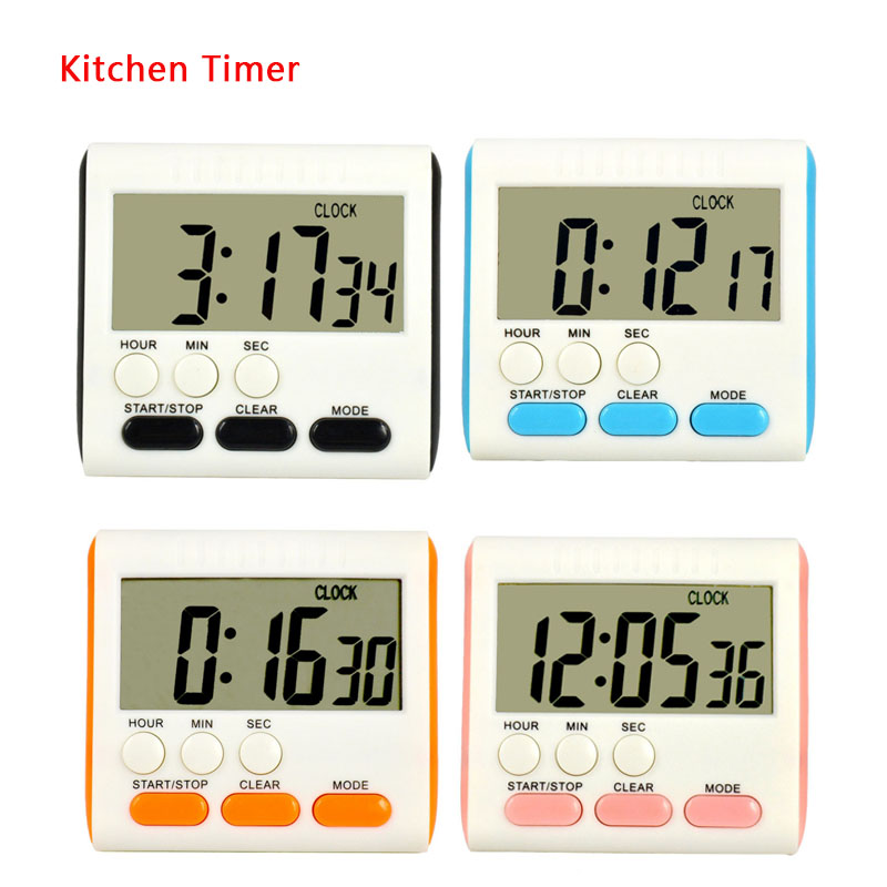 Magnetic Large LCD Digital Kitchen Timer Alarm Count Up Down