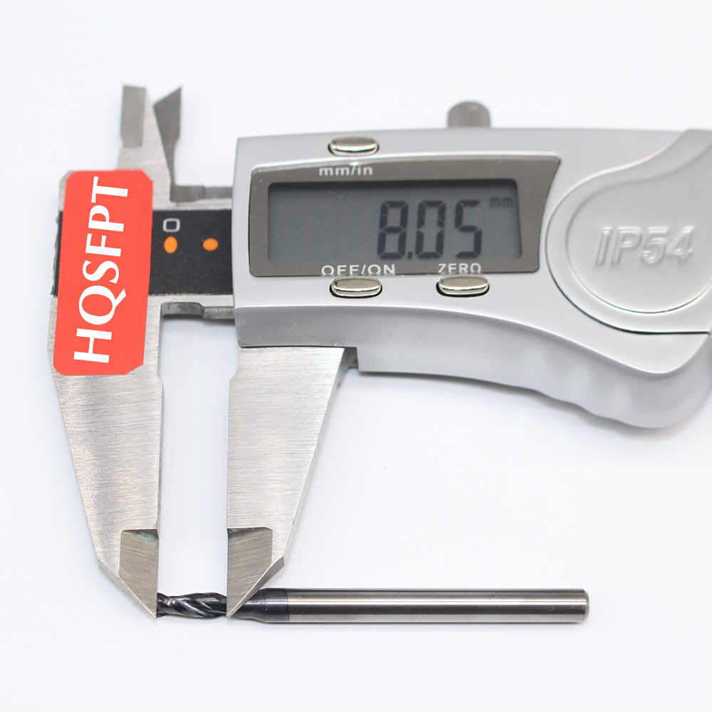 1PCS D3X8LXD4X50L 2Flute HRC50 3mm Solid Carbide Endmills Standard Length  CNC Side milling cutter Slotting Profiling face mill