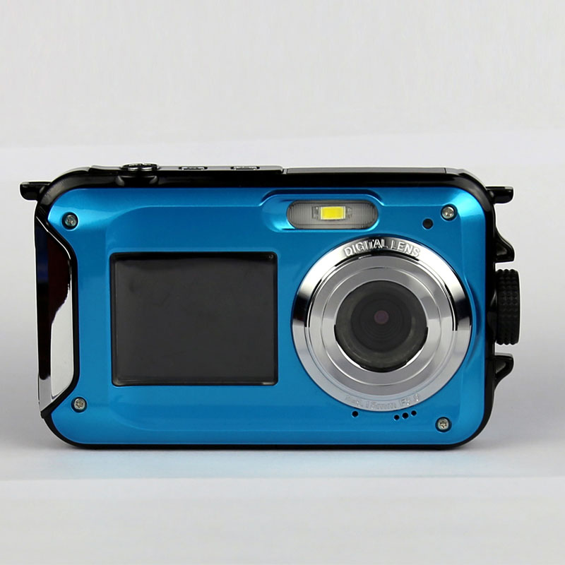 karue W8 2.7inch TFT Digital Camera Waterproof 24MP MAX 1080P Double Screen 16x Digital Zoom Camcorder hot new Camera