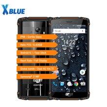 Homtom zoji z9 6gb 64gb, celular à prova dágua ip68, 5500mah, frequência cardíaca, android 8.1, tela de 5.7 polegadas smartphone id impressão digital 4g