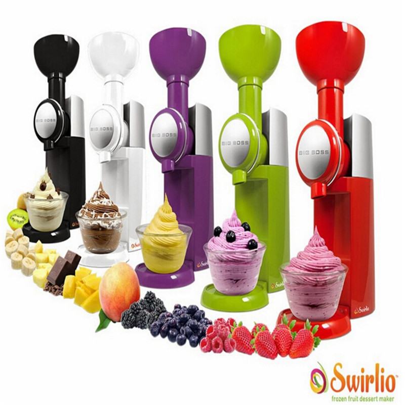 Big Boss Swirlio Frozen Fruit Dessert Maker Fruit Ice Cream Machine Or Electric Ice Cream Maker 110V-240V, EU or US plug fruit ice cream feeder from factory selling gelato fruit nuts mixer