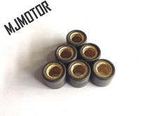6pcs set Scooter Variator Copper Rollers Weight 15g For Chinese 150cc GY6 152QMJ Scooter QJ