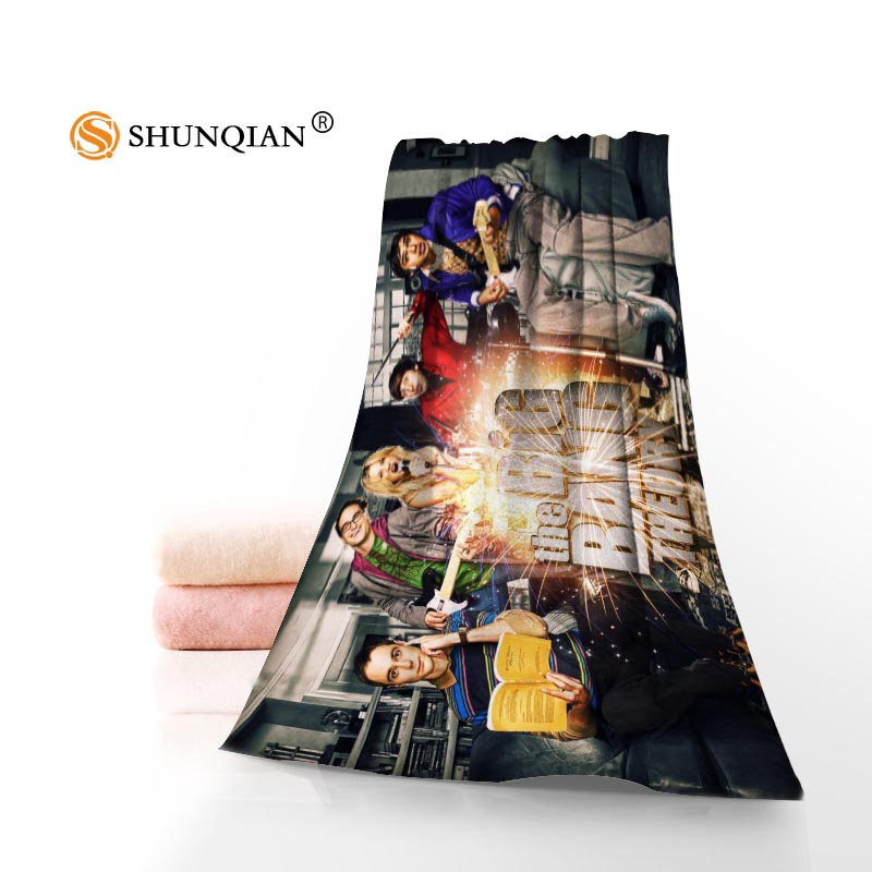 Custom big bang theory 35x75cm 70x140cm Towels Facecloth Bath Towel Bamboo Fiber Washcloth Quick drying Sports Towel