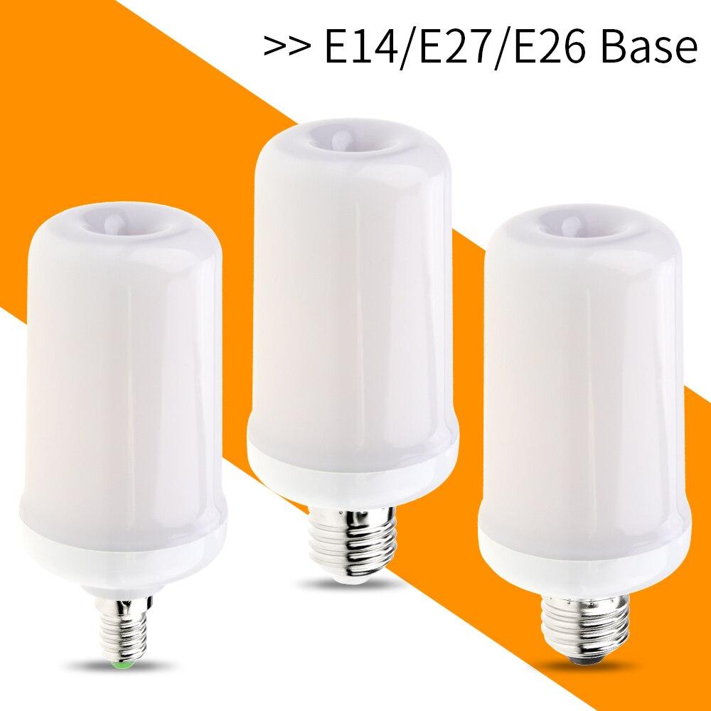 Led E27 E14 Flame Effect Light E26 110V 220V Led Fire Flame Bulb Flickering Emulation Decoration Holiday Christmas Light 85-265V