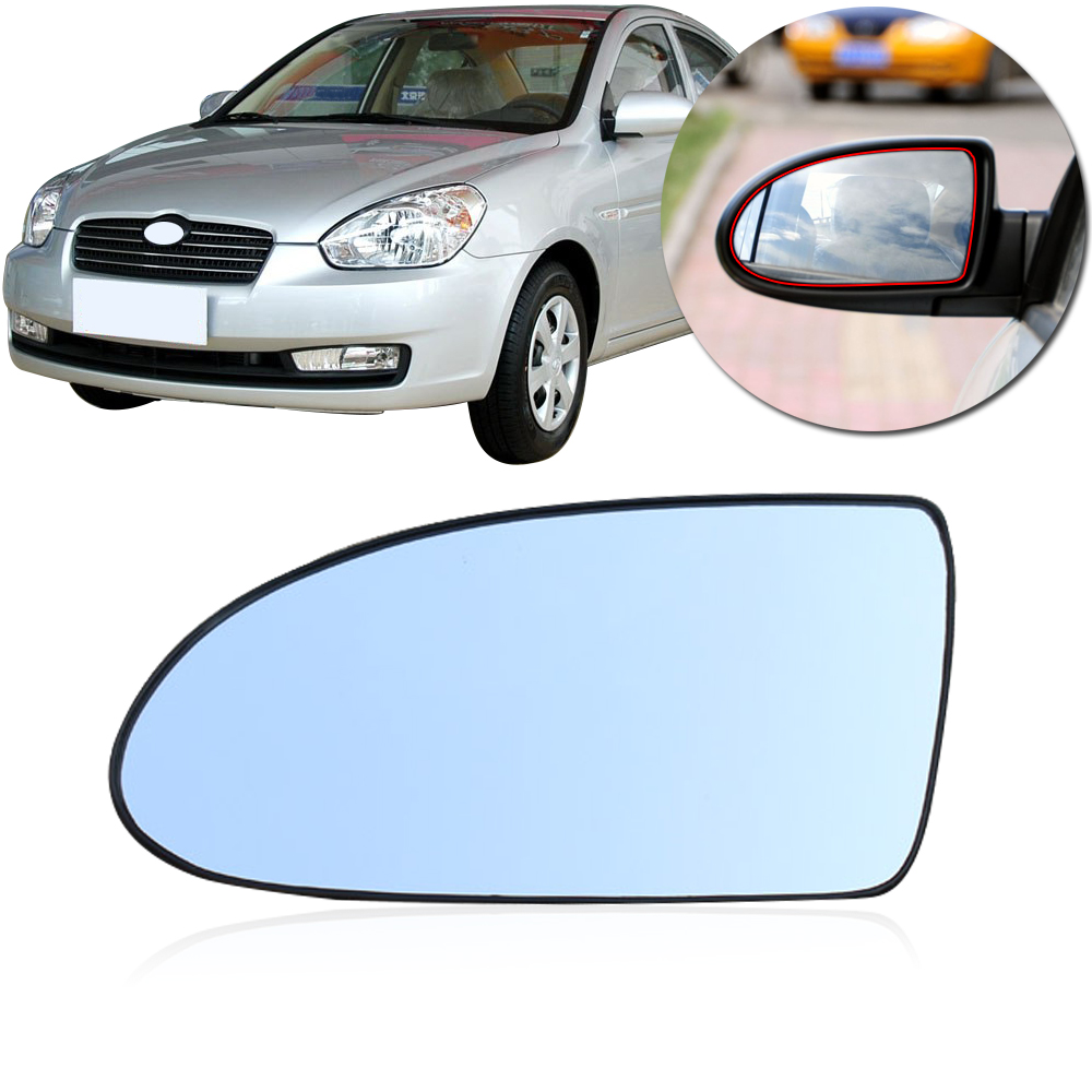 CAPQX  For Hyundai Accent 2006-2011 Outside Rearview Mirror Glass Rear View Side Mirror Glass Lens  Without Heating Manual Style