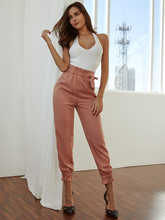 лучшая цена JYSS women's casual pants new style brown color high waist pants long elastic trousers pantalon femme slim trousers HCY001