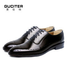 Goodyear welted shoes handmade Oxford shoes British whole cut genuine leather blake craft casual shoes custom