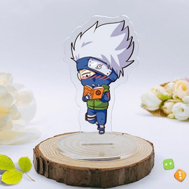 cartoon Naruto keychain Kakashi Gaara Sasuke Akatsuki Members Itachi Pendants Keyring Cosplay doll accessories Chaveiro 8 cm toy