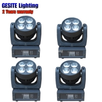 4pcs led mini wash 4x12w rgbw dmx moving head lyre beam high bright