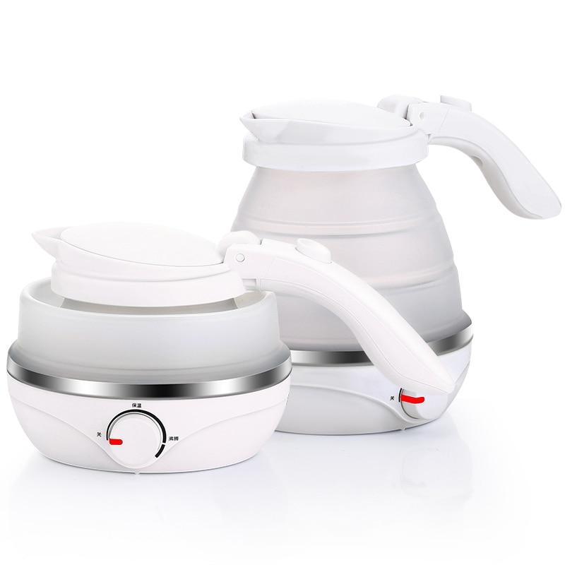 NEW Electric kettle travel abroad folding silica gel portable damask silica gel mold