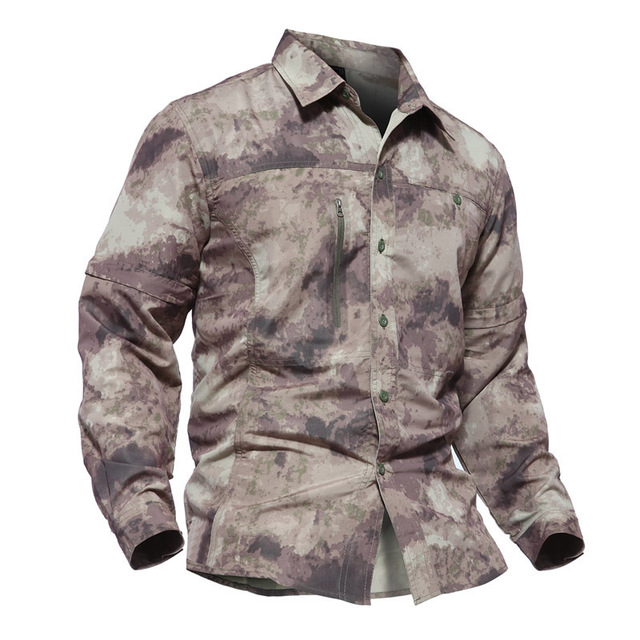 3b1e511ffe4 Для Мужчин Армия рубашка в стиле милитари для мужчин быстросохнущая  Тактический рубашка осень лето съемный рубашки