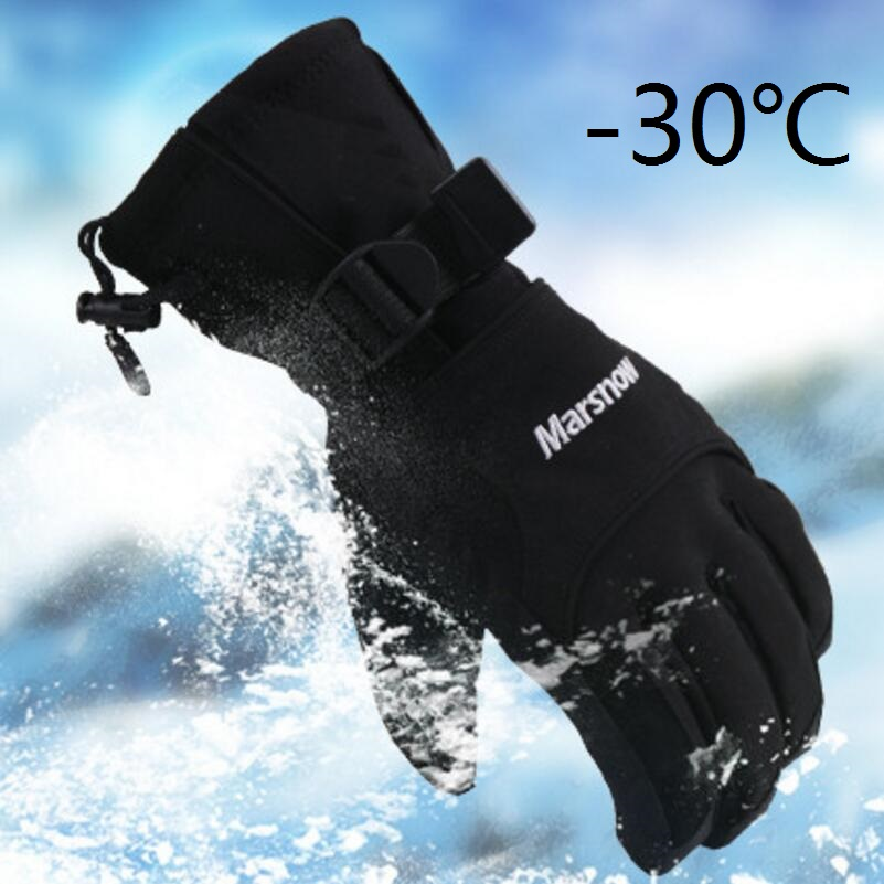 Outdoor Windproof Ski Gloves Waterproof Winter Keep Warm Snowboarding Glove Riding Motorcycle Gloves Breathable Men Skiing Glove