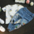 Jeans meninos Dos Desenhos Animados Mickey Crianças Calças Jeans Meninas Calças Do Bebê Da Margarida Azul Elástico Jean Outwear Primavera Calças Básicas Para Crianças