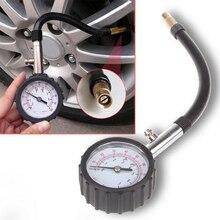 หลอดยาว Auto Car BIKE ยางรถยนต์เครื่องวัดความดันอากาศเครื่องวัดความดันยาง Meter Tester การตรวจสอบระบบ