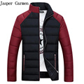 Free shipping Brand New Winter Slim man's cotton down jacket Short Coat with stand Collar for Men size M-XXXL  90yw