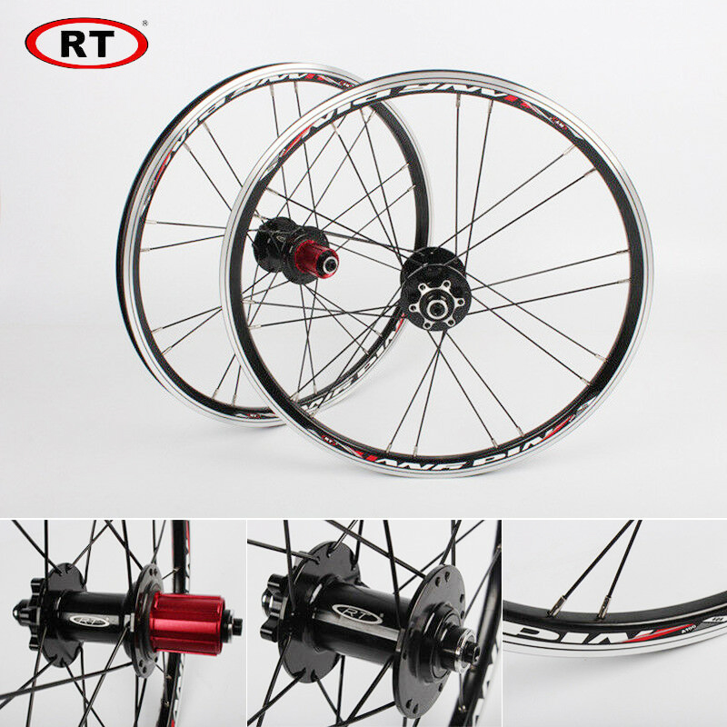 "20"" Folding Bike Wheels Front Rear wheels set 100/135mm V&Disc brake 451/406 7 10s Aluminum Rims For BMX Bicycle Wheelset-in Bicycle Wheel from Sports & Entertainment"
