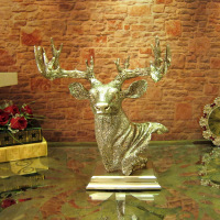 2016 Time limited Limited European Classical Luxury Jewelry Ornaments Home Furnishing Moose Head Office Desktop Decoration Soft