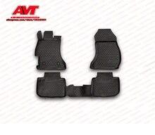 Floor mats for Subaru XV 2012- 4 pcs rubber rugs non slip rubber interior car styling accessories