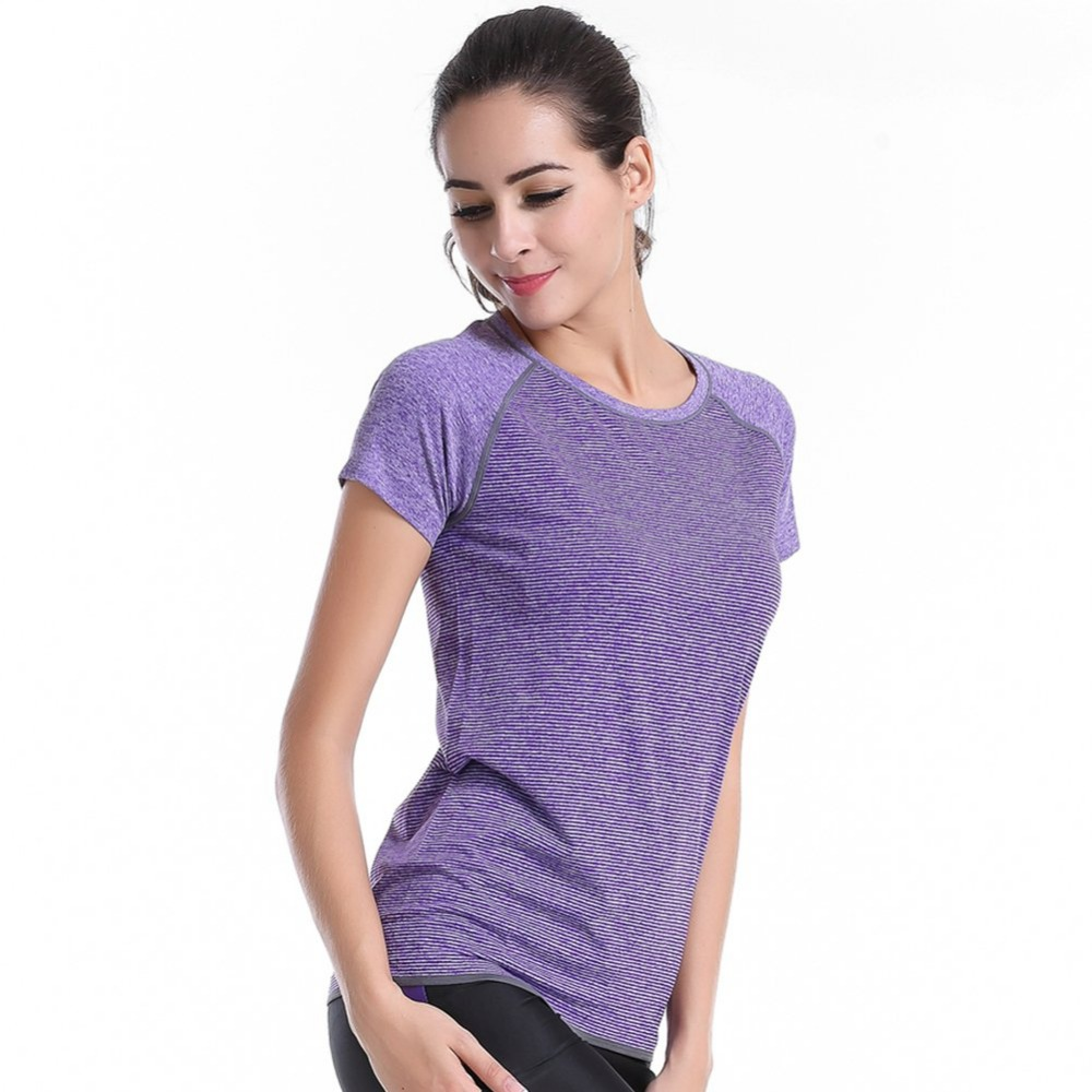 Dry Quick Running Short Sleeve Clothes tops Outdoor Summer Gym Fitness T shirt Compression Tights Women Sport T-shirts
