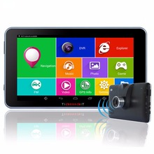 """7"""" Car GPS Navigation Android 4.4.2 FHD 1080P Car DVR Camera Recorder Vehicle gps WiFi MT8127 Quad - core Free Map CGDC01"""