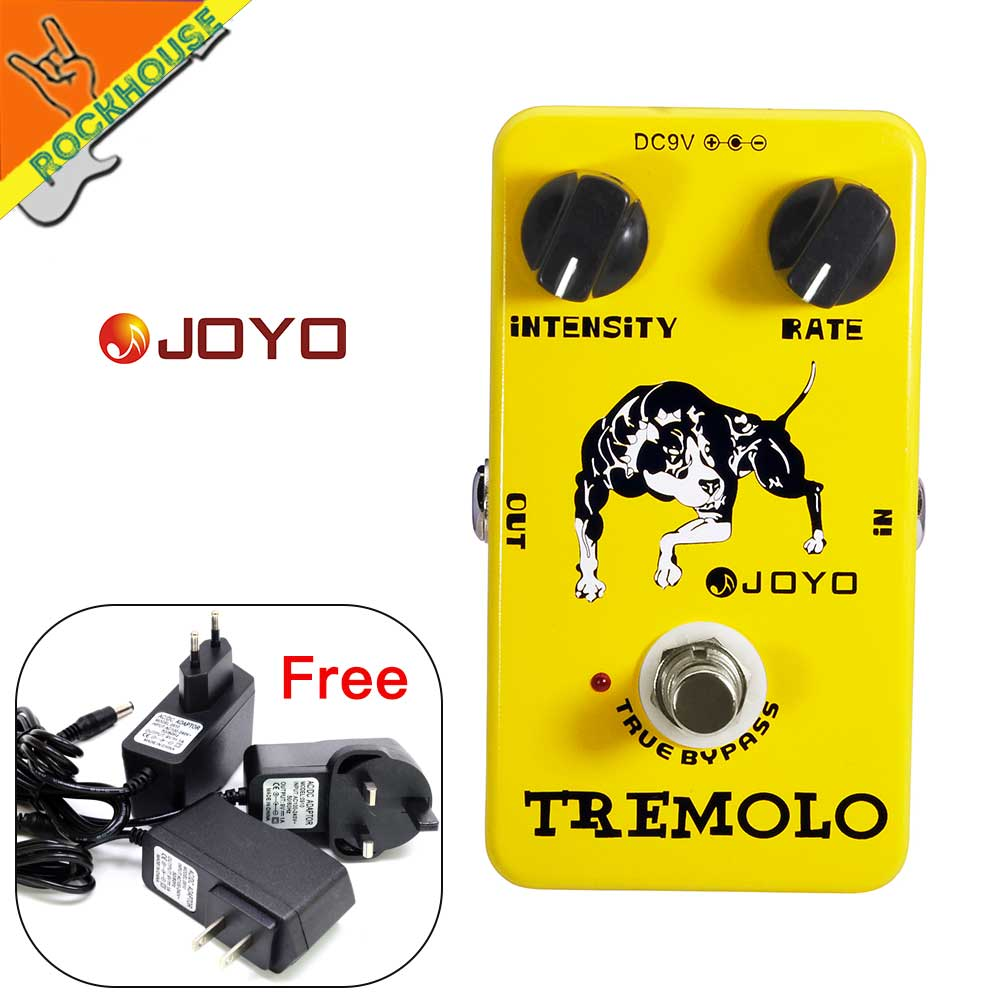 JOYO JF09 Tremolo Guitar Effects Pedal Analog tremolo Effects pedal stompbox Intensity Rate Adjustable True bypass Free shipping diy compressor pedal bass compressor effects pedal stompbox kit true bypass high quality