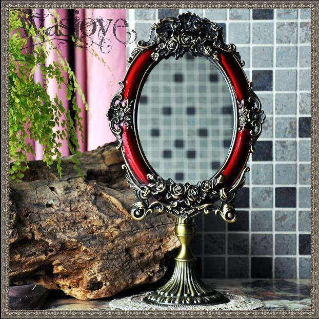 Permalink to European antique mirror with antique mirror frame vanity table makeup table decorative mirror for home decoration   J023