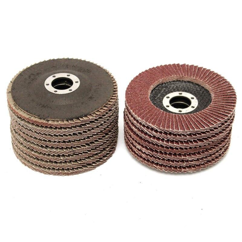цена 15pcs Flap Discs 115mm Sanding Discs 40 60 80 Grit Grinding Wheels Discs Angle Grinder Jewerly Polishing Tools