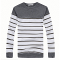 Plus Size M-XXXL T shirt Men Thickening Striped Casual Warm T-shirt Men O Neck Cotton Long Sleeve t shirts