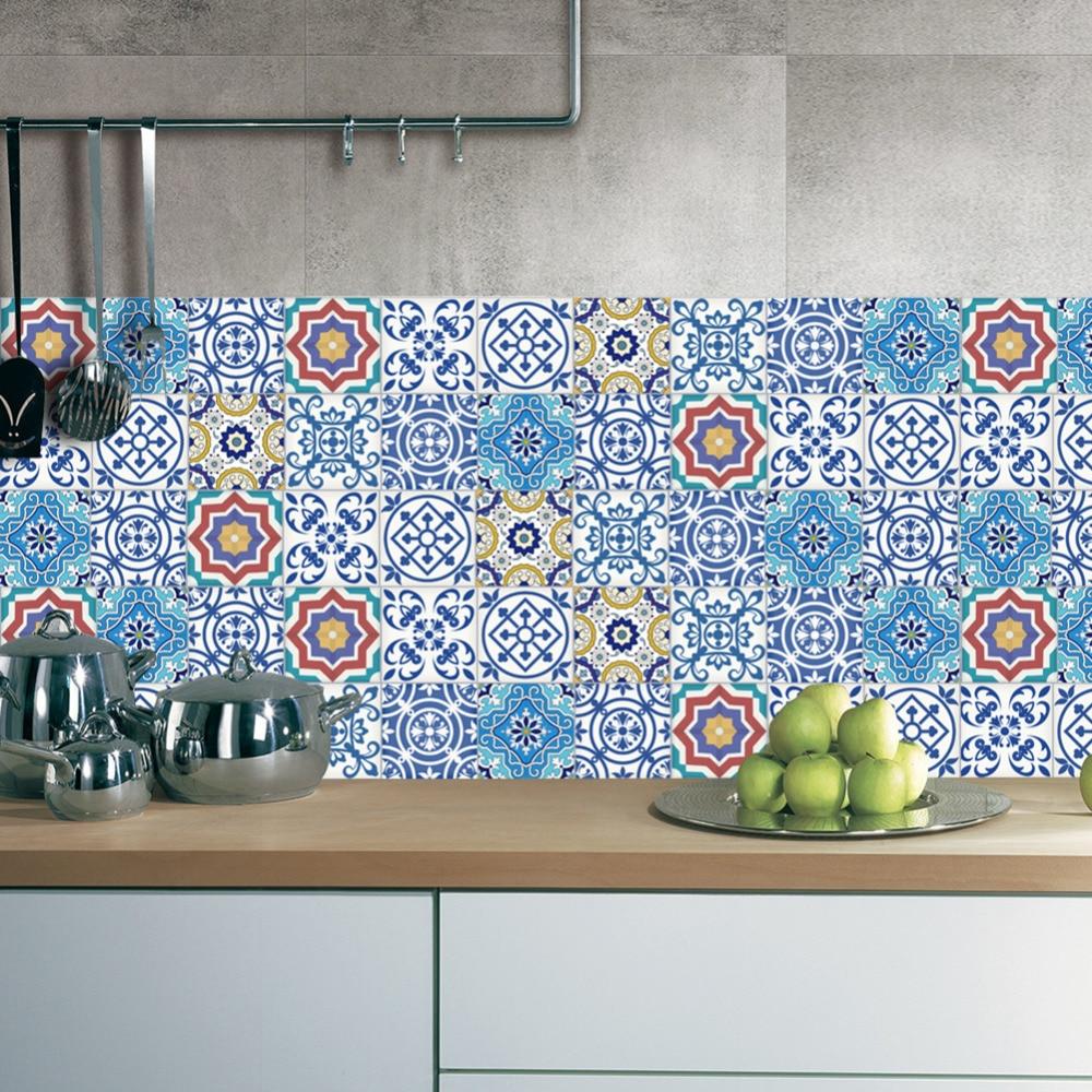 1pc 20x500cm Vintage DIY Tile Stickers PVC Bathroom Kitchen ...